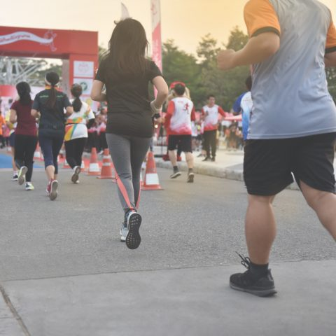 People running in charity race